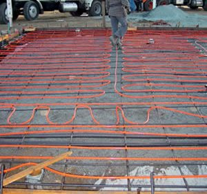 Tips for designing and installing radiant floor heat the for What temperature to pour concrete outside
