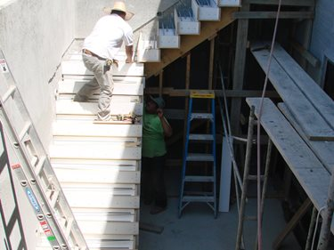 The Stairs In Construction: Site Diamond D Company Capitola, ...