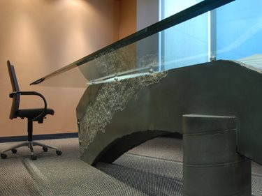 Grey Conference Table, Concrete Conference Table, Office Concrete Site California Concrete Designs Anaheim, CA
