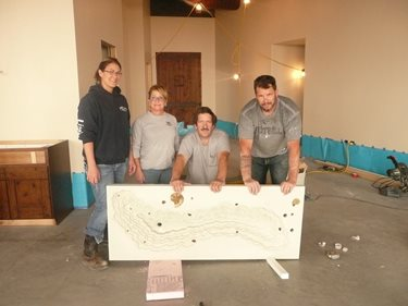 Happy Workers Wife Lee Ann, Dave, Brian And Client Micki After A Successful Pour And De - Mold Site Decorative Concrete Institute Temple, GA