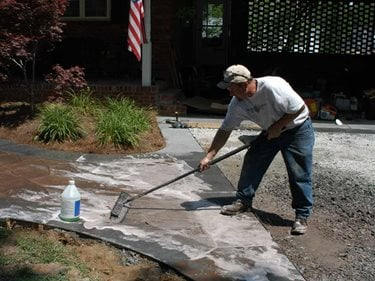 Stamped concrete how to the concrete network for Cleaning colored concrete