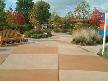Integral Colored Concrete, Concrete Color Site Designing Concrete Inc Woodstock, IL