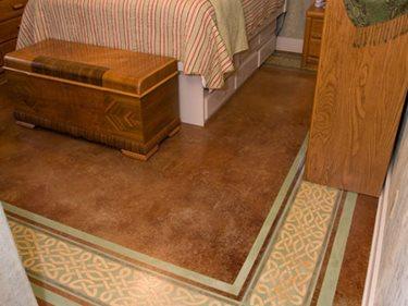 Orange Stain, Bedroom Floor Site Artistic Walls Ventura, IA