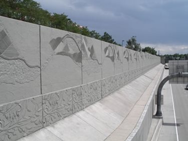 Uses for concrete form liners the concrete network - Decorative precast concrete wall panels ...