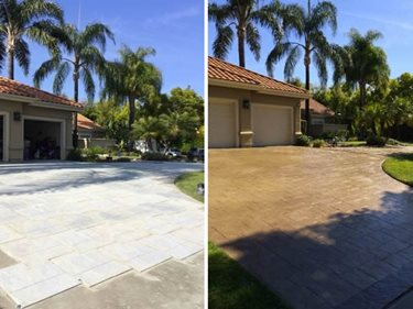 Stamped Driveway, Before And After Site StoneCrete Systems Orem, UT