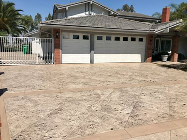 Stamped Driveway, Driveway After Site KB Concrete Staining Norco, CA