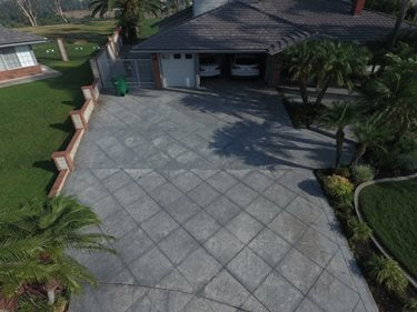 Stamped Driveway, Driveway Before Site KB Concrete Staining Norco, CA