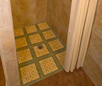 Stenciled Shower Floor Site Artistic Walls Ventura, IA