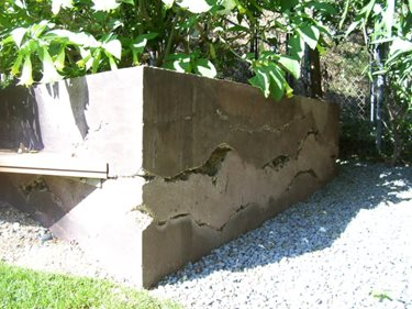 Vertical Concrete, Retaining Wall Site Ron Odell's Custom Concrete Woodland Hills, CA