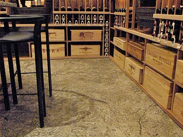 Wine Cellar, Floor, Smith Paints Overlay Artistic Polymers Inc. ,