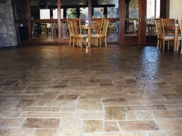 Stamped Concrete Floor, Patterned Floor, Random Pattern Floor Stamped Concrete Concrete Solutions Products by Rhino Linings San Diego, CA