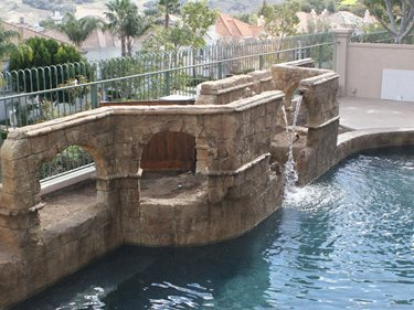 Vertical Concrete, Concrete Wall Vertical Stamping Authentic Environments Huntington Beach, CA