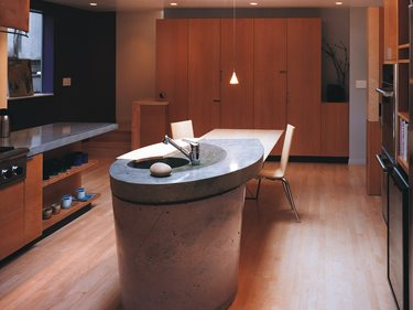 Round, Column Concrete Countertops Cheng Design Products Inc. Berkeley, CA