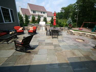 Rectangles, Fire Pit Concrete Patios New England Hardscapes Inc Acton, MA