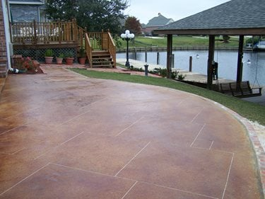 Exceptional Red Stain, Sawcut Grout Lines Concrete Patios Artistic Concrete Floors LLC  Madisonville, ...