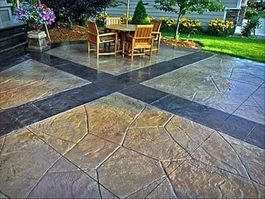 ... Stained Concrete Patio Cost : Scored Concrete Floors And Patios The  Network ...
