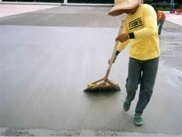 Broom Finish- Technique for Creating Traction on a Concrete