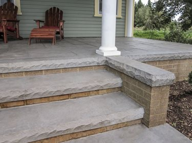 Concrete Steps, Textured Form Liner Site Butterfield Color® Aurora, IL