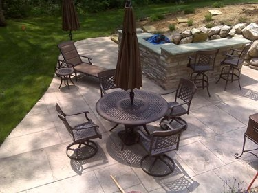 Stamped, Overlay, Patio Stamped Concrete Concrete Impressions, LLC East Leroy, MI