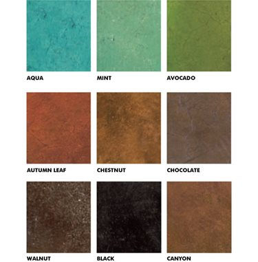 Basement Floor Colors - Color Charts and Materials - The Concrete Network