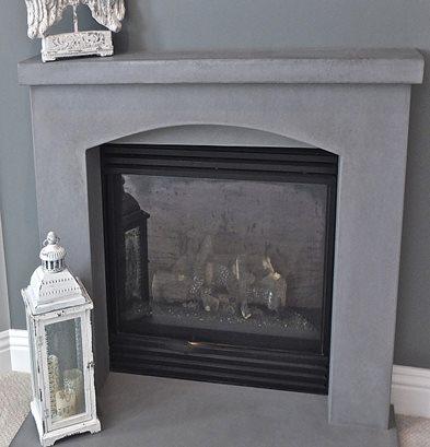 Concrete Fireplaces Reflect Unique Style The Concrete
