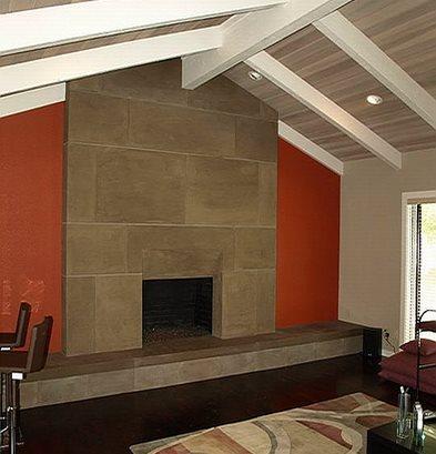 Concrete Fireplace Site Concrete Interiors Martinez, ...