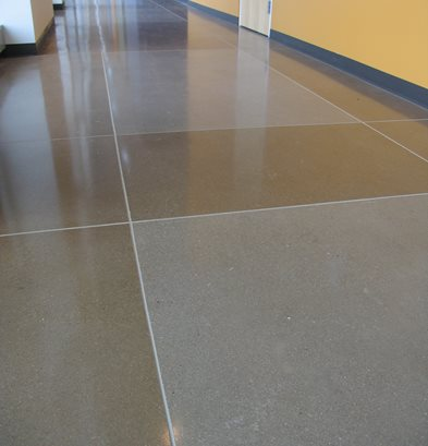 Geometric, Grey Concrete Floors Colorado Hardscapes Denver, CO