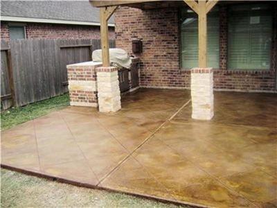 Lovely Cut Squares Acid Staining Concrete Aztec Decorative Concrete Houston, TX