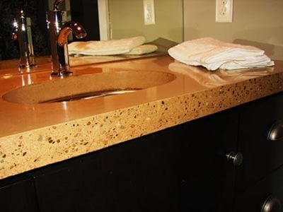Bathroom Vanities Tops on Concrete Countertops   Dayton  Oh   Photo Gallery   Ohio Concrete