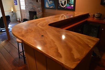 Bar Two Concrete Countertops Liquid Stone Warminster, PA