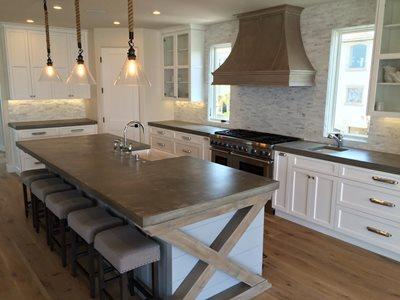 Big Kitchen Island, French Country Concrete Countertops Art Of Concrete Encino, CA