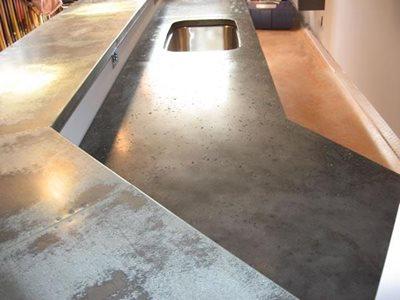 Black, Aggregate Concrete Countertops Hudecek Cement Inc North Royalton, OH