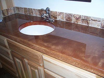 Brown Countertop Concrete Countertops Concrete Impressions Northwest Burbank, WA