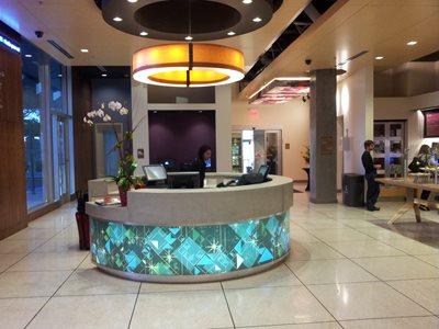 Circular Reception Desk Concrete Countertops Visual Artisan, LLC Kissimmee, Fl