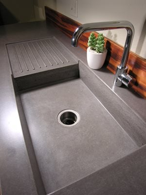 How to install a kitchen sink bob vila - How To Make Diy Concrete Countertops Pictures To Pin On