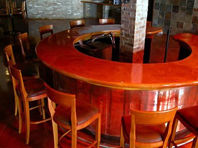 Curved, Circular Concrete Countertops Chicago Concrete Studio Inc Chicago, IL