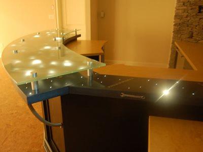 Fiber Optics, Embedded Concrete Countertops Liquid Stone Warminster, PA