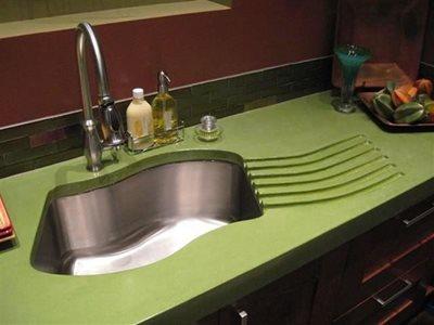 Green, Eco-Friendly Concrete Countertops Absolute ConcreteWorks Port Townsend, WA