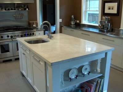 Grey, Large Concrete Countertops DCsurfaces Jacksonville, FL