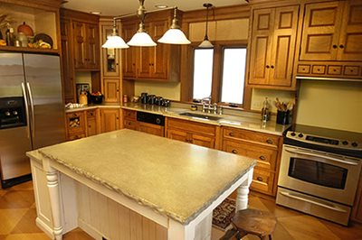 Island Countertop Concrete Countertops Ideal Surface Rocky River, OH
