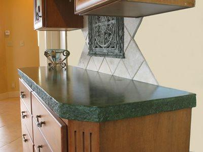 Rock Edge Concrete Countertops Absolute ConcreteWorks Port Townsend, WA