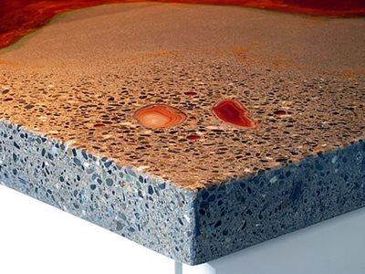 Terrazzo Finish Concrete Countertops Absolute ConcreteWorks Port Townsend, WA
