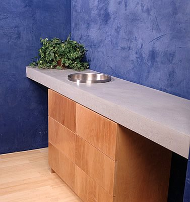 Thick, Cement Concrete Countertops Oso Industries New York, NY