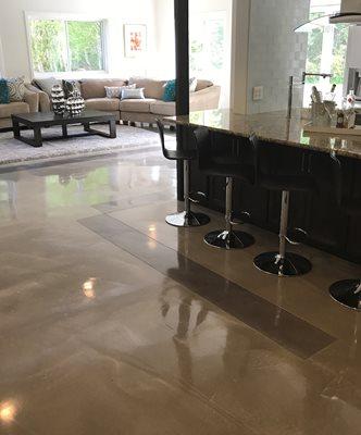 Floor Overlay, Reflective Floor Concrete Floors Modern Overlay Bellevue, WA