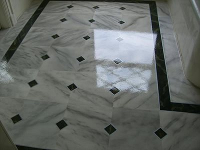 Marble, Black And White Concrete Floors Surface Specialties of NY Bohemia,