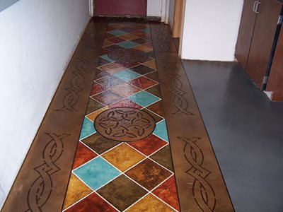 Patchwork Concrete Floors Artistic Concrete Coatings Lima, OH
