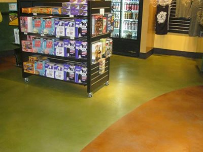 Resurfaced, Acrylic Stain Concrete Floors Maverick Specialty Contracting Seattle, WA