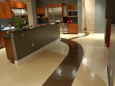 Ribbons Concrete Floors Hudecek Cement Inc North Royalton, OH