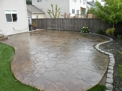Beige Concrete Patios Narrows Construction Gig Harbor, WA