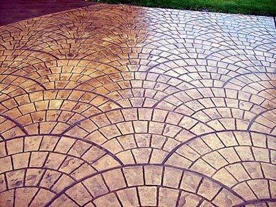 Brick Fan, Gold Concrete Patios Crete with Flair Lancaster, OH